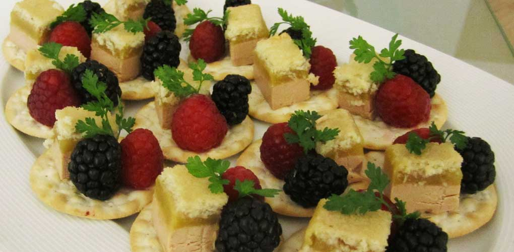 Toasts de Foie de Canard aux Fruits des bois